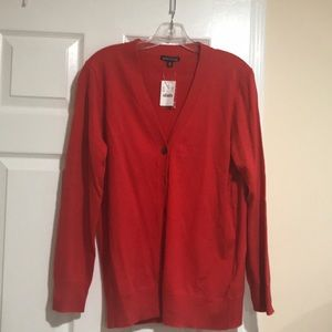 J crew mercantile NWT sweater in red hot color.